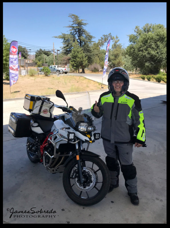 The fantasy was to stop at Campo, California, a border town on the Mexico-US border. BUT it was 98°F in the SHADE and 100°F in the sun. Needless to say, I filled up on gas and rode out of there as quickly as possible! Still, I am glad I made it to the Mexico-US border.