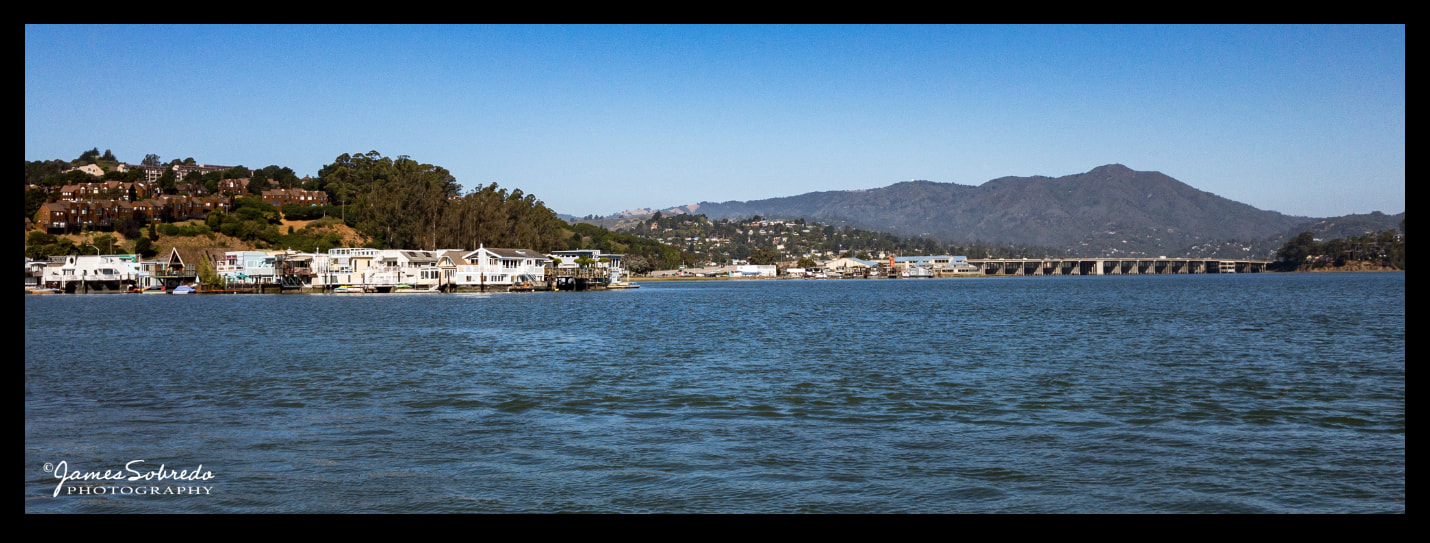 Nice and cool weather and sunny skies. I always love coming home to Sausalito.